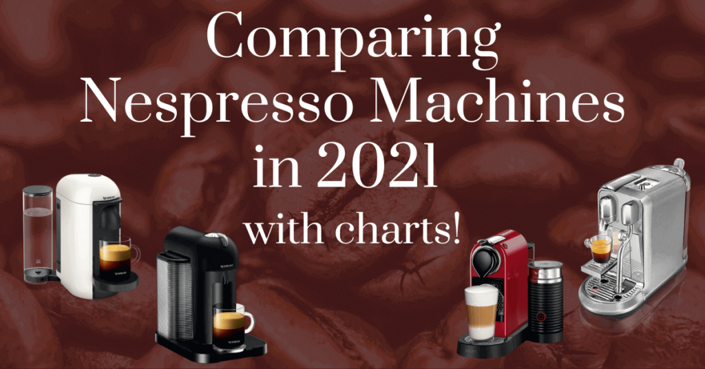 Comparing Nespresso machines in 2021 with charts!
